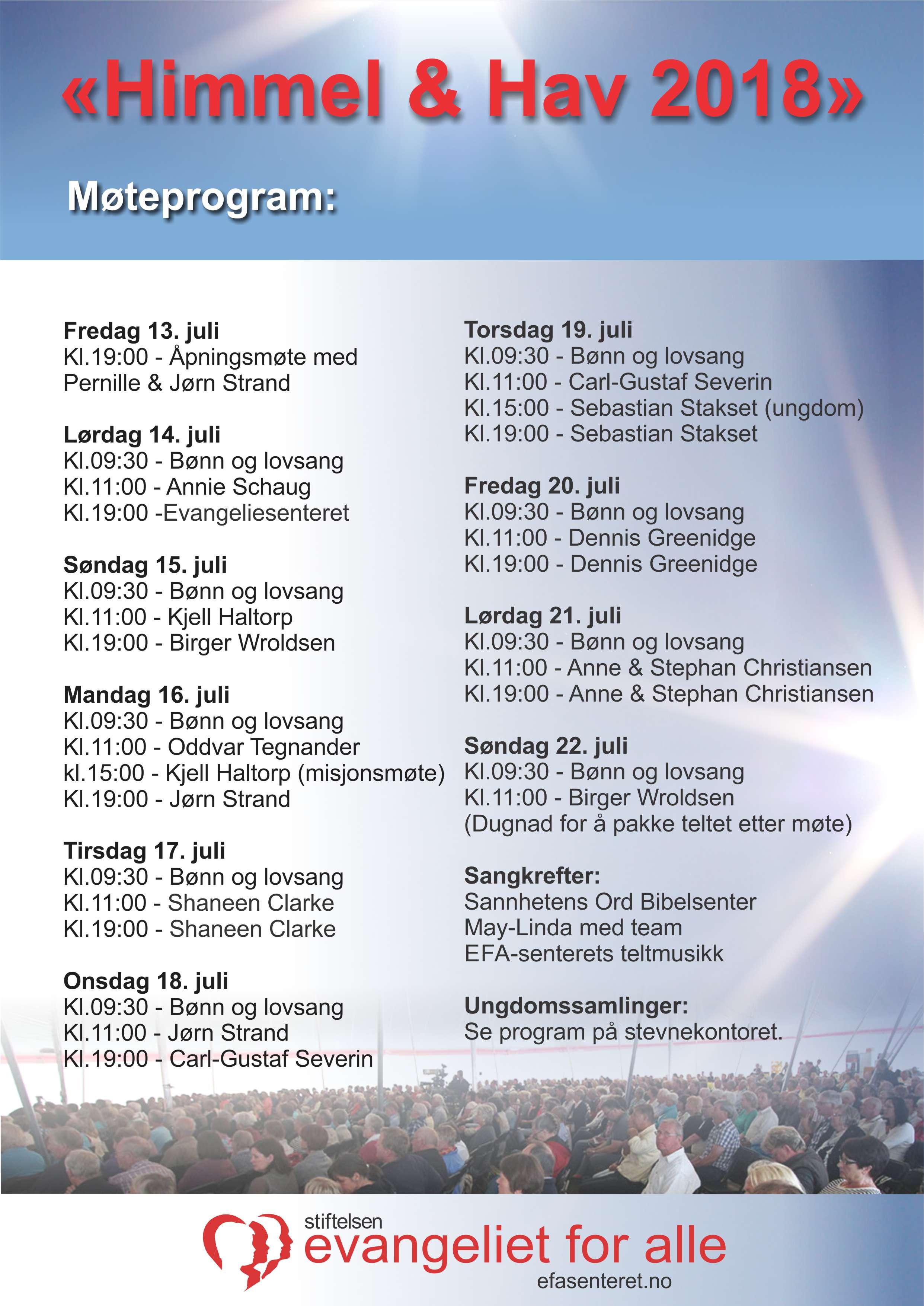 Møteprogram Himmel & Hav 2018