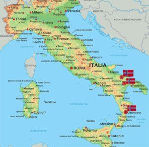 """""""Korstog"""" i Italia 8. – 31. Mai – 2019"""